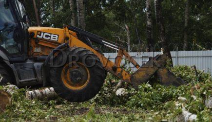 удаление пней трактором